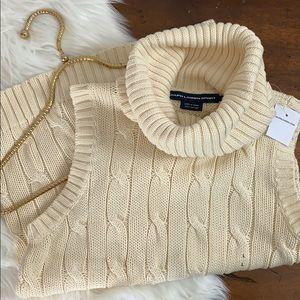 RALPH LAUREN Sport Sleeveless Turtleneck Sweater